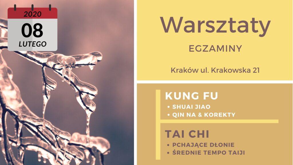warsztaty kung fu i taiji - luty 2020