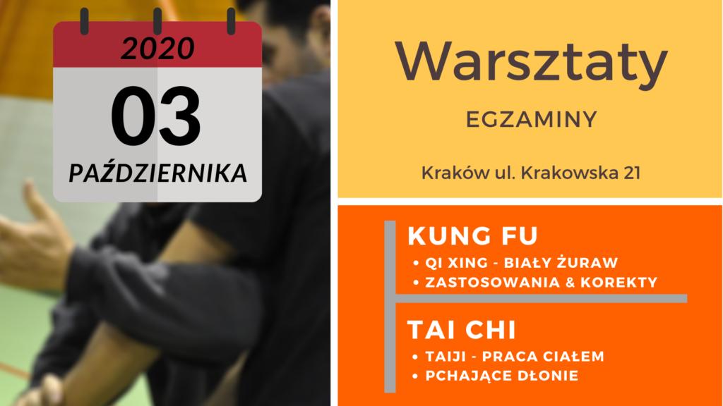warsztaty kung fu/tai chi - pazdziernik 2020