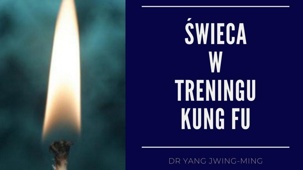 Trening Kung Fu ze świecą